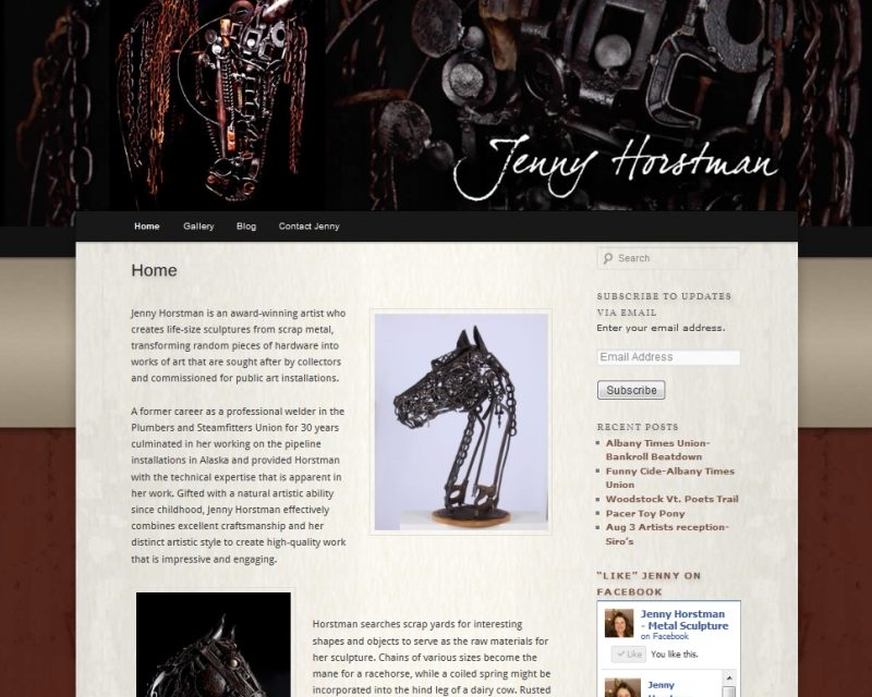 Jenny Horstman Metal Sculpture