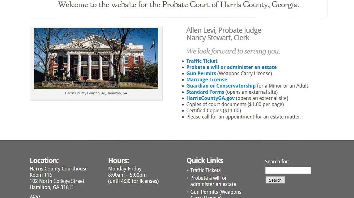 Harris County, GA Probate Court | Traceable Creations